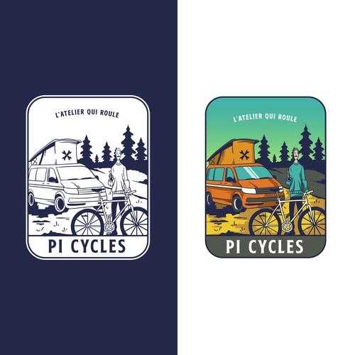 logo for bicycle repair shop