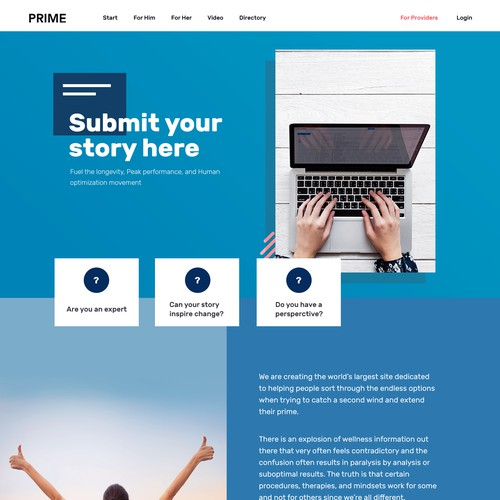 Keepmeprime.com - Submit story page