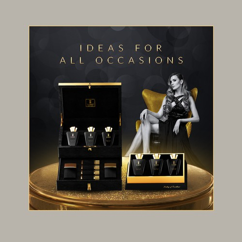Perfume banner ad