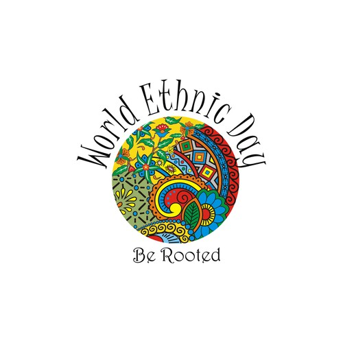 Logo for World Ethnic Day to celebrate ethnic cultures of the world