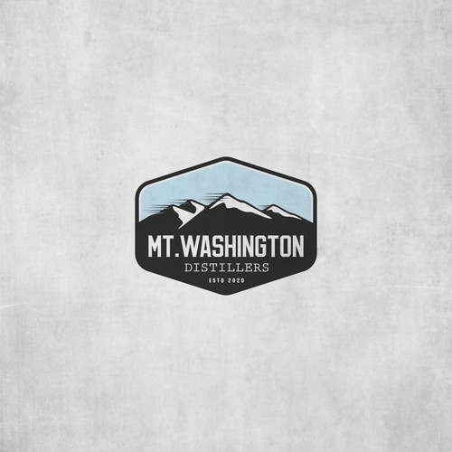 vintage mountain badge