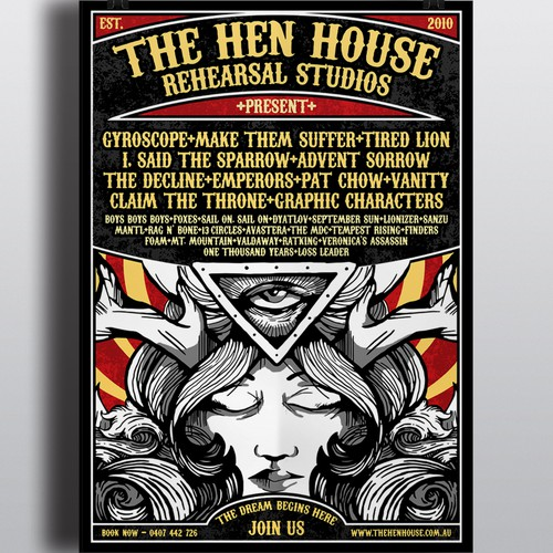 Create the ultimate Rock n Roll Poster for the Ultimate Rehearsal Studio