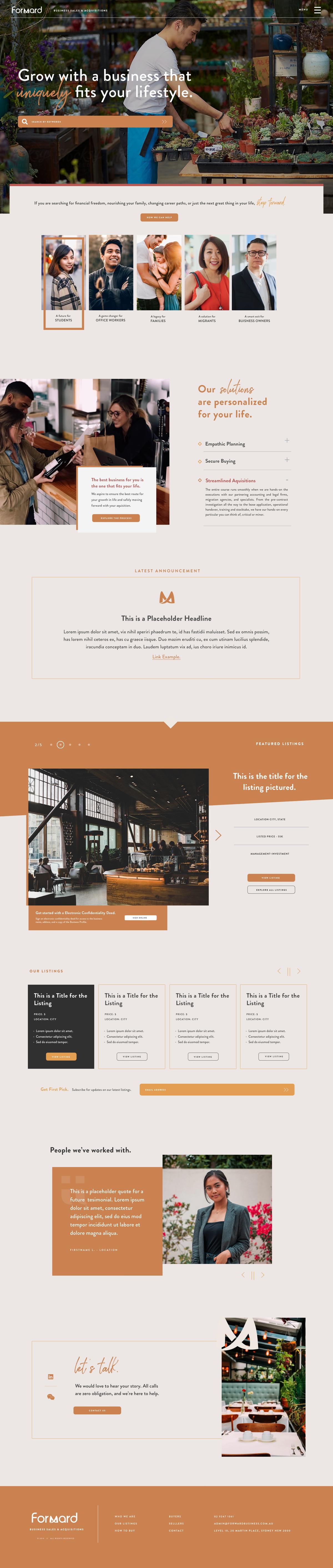 Redesige homepage