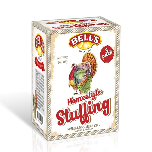 Packaging Design for Bell's Homestyle Stuffing