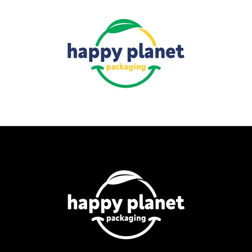 Happy planet packaging logo