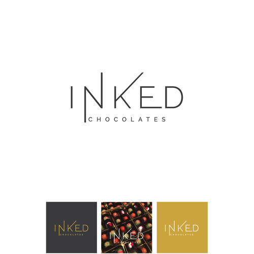 Logo for hispster chocolates with a modern/geometrical/youthful logo