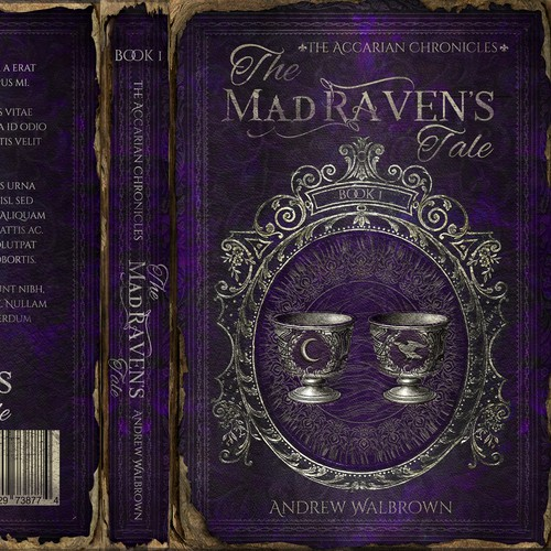 "Winning design for ""The Mad Raven's Tale"" . First book in the series !!"