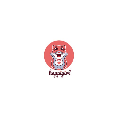 HappiGirl Logo Mascot Concept