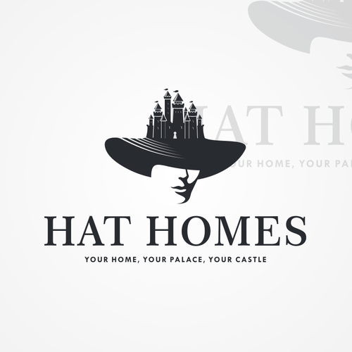 Logo proposal for Hat Homes.