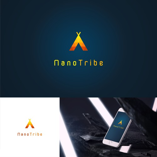 Logo for mobile game company that creates fun games for mobile devices