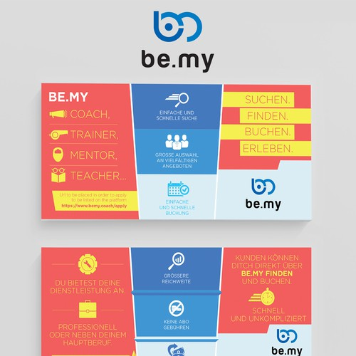 Be.my Postcard Info graphic design