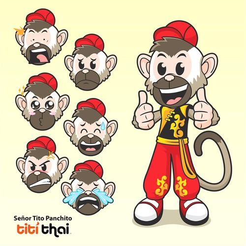 Senior Tito mascot for Titi Thai