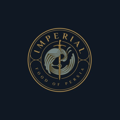 Luxury logo for IMPERIAL Food Of Persia.