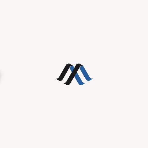 Modern abstract Letter MF design
