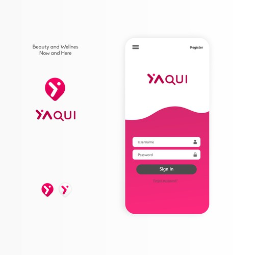 YaQui - Beauty Services App Logo