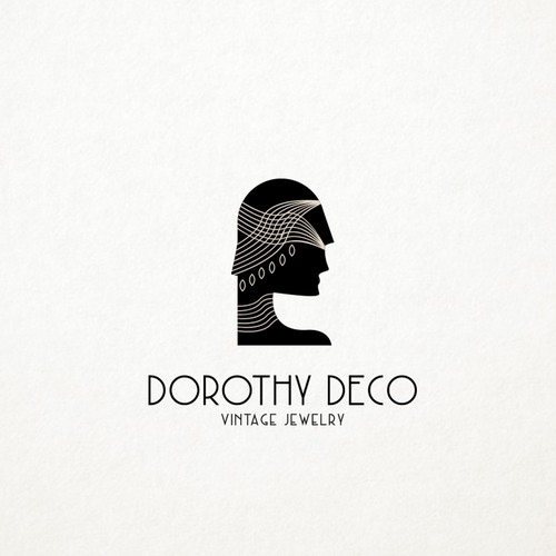 Art Deco vintage jewelry logo design