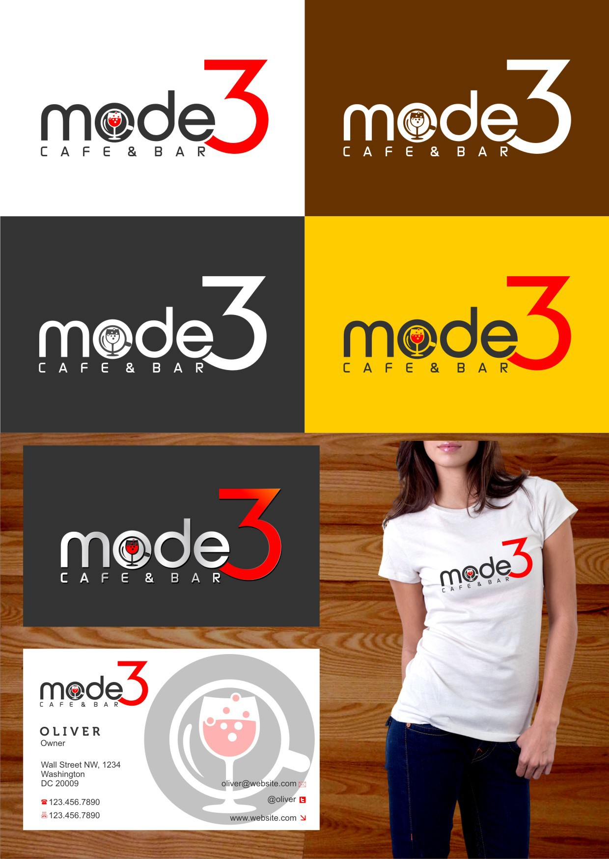 Mode3 Cafe and Bar needs a new logo