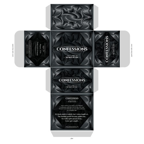 Logo, Package and Card for Confessions The Game of Secrets & Lies