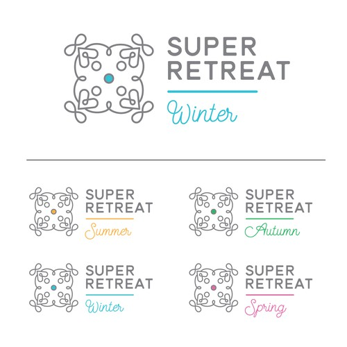 Refined simplistic logo concept for 'Super Yoga'