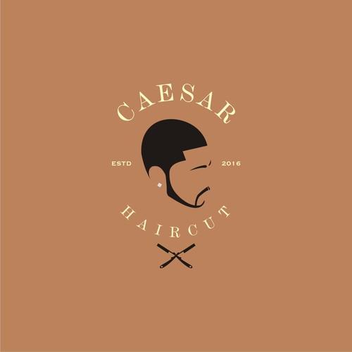 Vintage design logo for Caesar Haircut