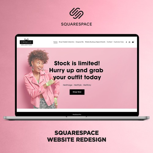 Criselle Collection - SquareSpace Website Redesign