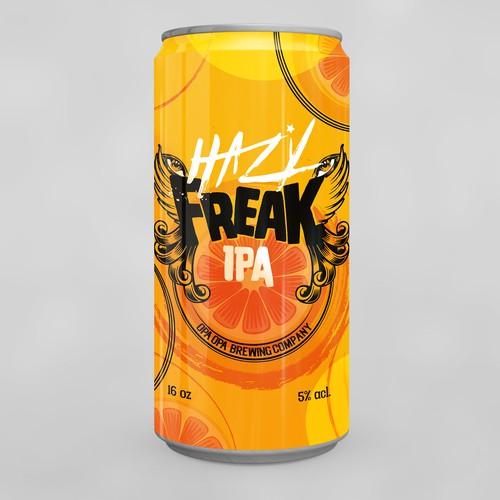 Packaging Beer Can Hazy Freak