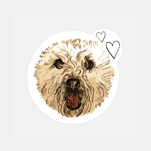 My Wheaten Terrier needs a sticker / embroidery design!