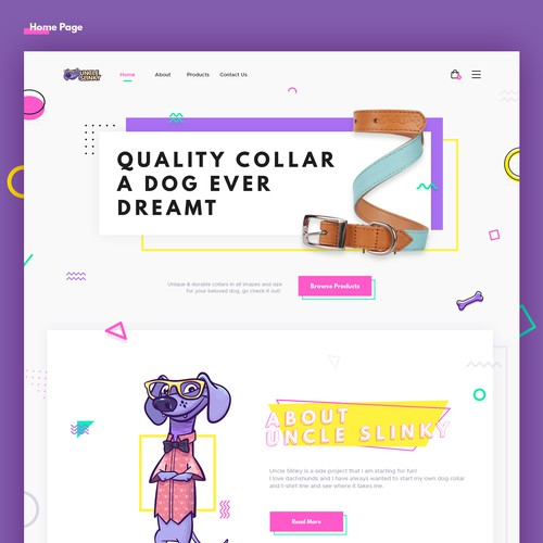 Uncle Slinky Web Design Concept