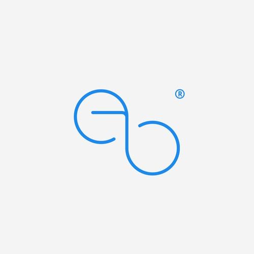 minimal monogram for a youthful fashion brand