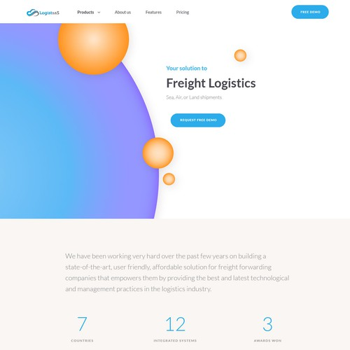 Freight Logistics Landing Page
