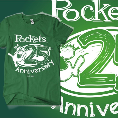 Tshirt design to celerbrate our 25 years   in business