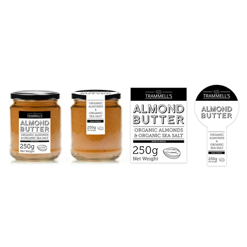 Create a simple, elegant product logo & label for Trammell's gourmet, stone-ground nut butters.