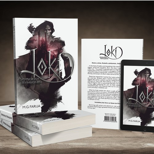 "Cover for ""Loki: Mythology Reimagined"" by M.G. Farija"