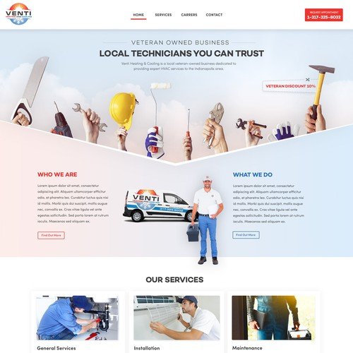 Website for VENTI Maintenance