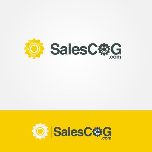 Create a logo with a cog in it for SalesCog.com