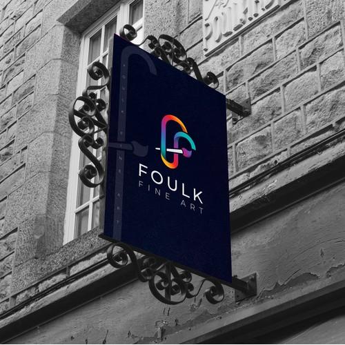 Logo Design for Foulk Fine Art.