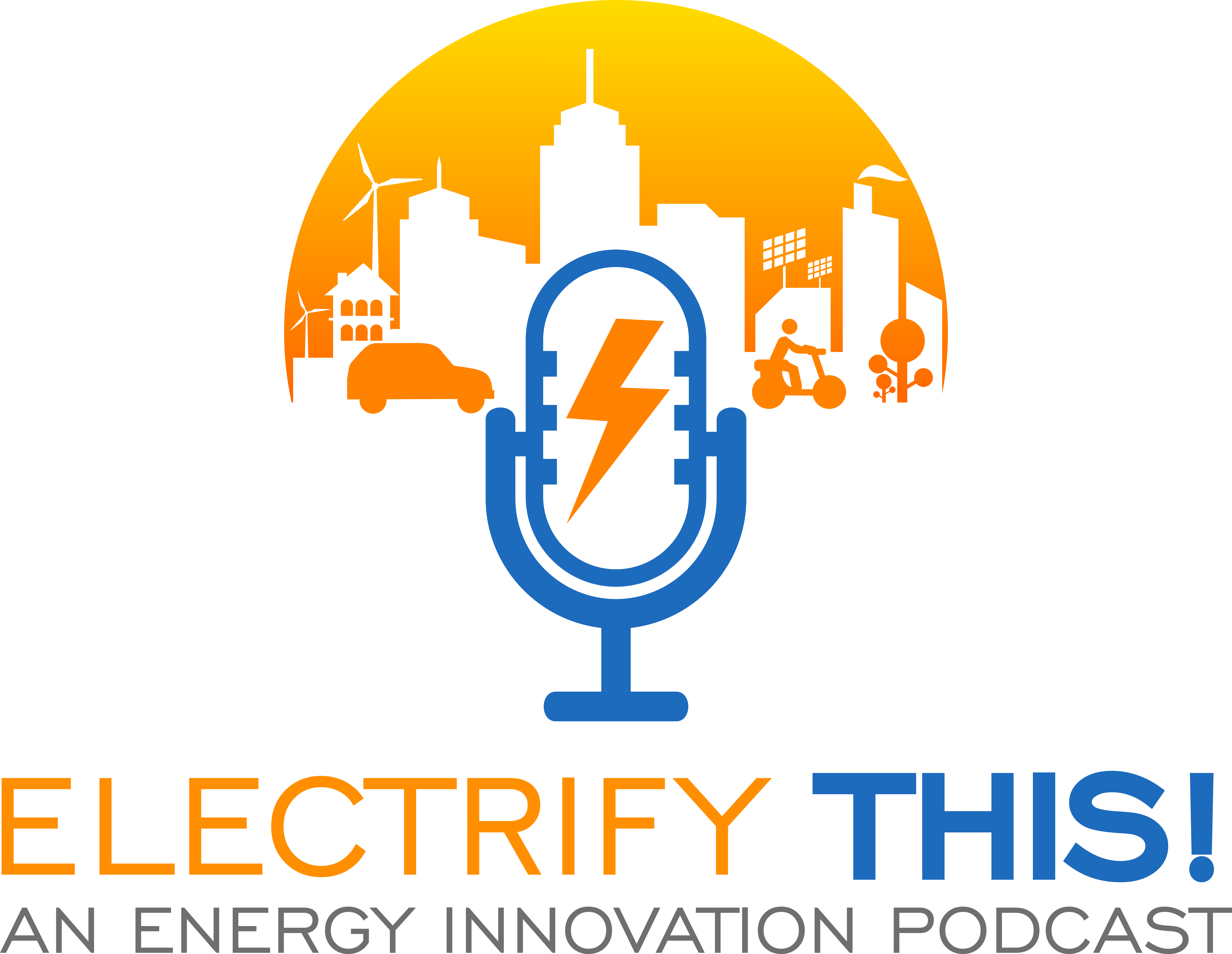 Eye-catching logo for new clean energy policy podcast