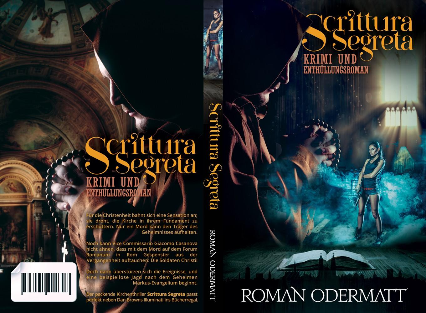 """Buchcover """"Scrittura Segreta"""" - Krimi und Enthüllungsroman"""