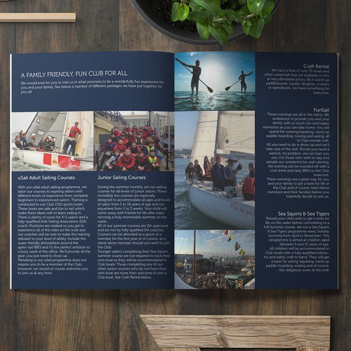Brochure for Royal St George Yacht Club Sailing