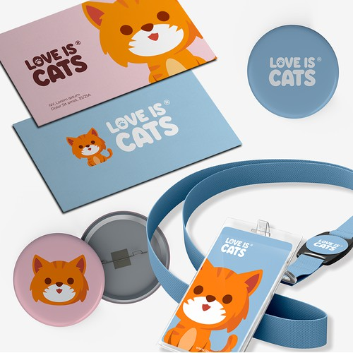 Logo Design for Love Is Cats