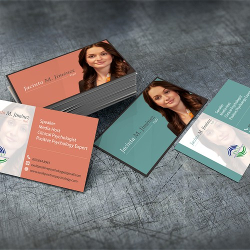 Create a business card for a Positive Psychology Expert and Speaker!
