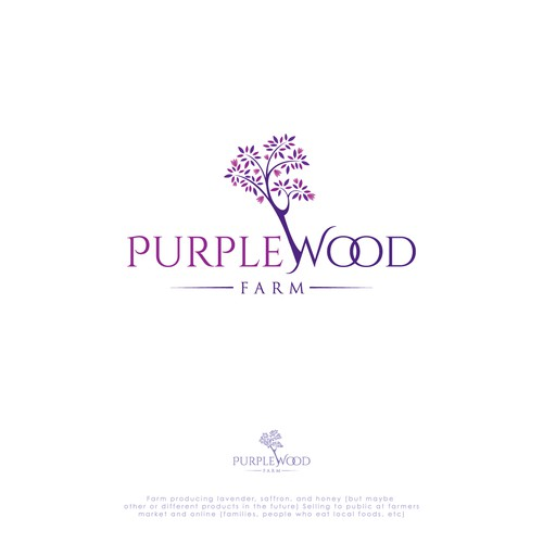 Purplewood Farm new logo!!