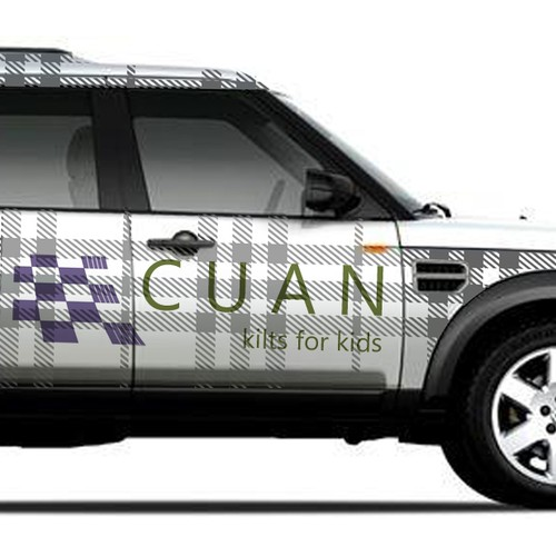 Car wrap for company selling childrens kilts