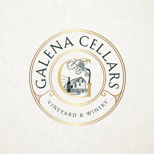 Hand drawn Family Winery Logo