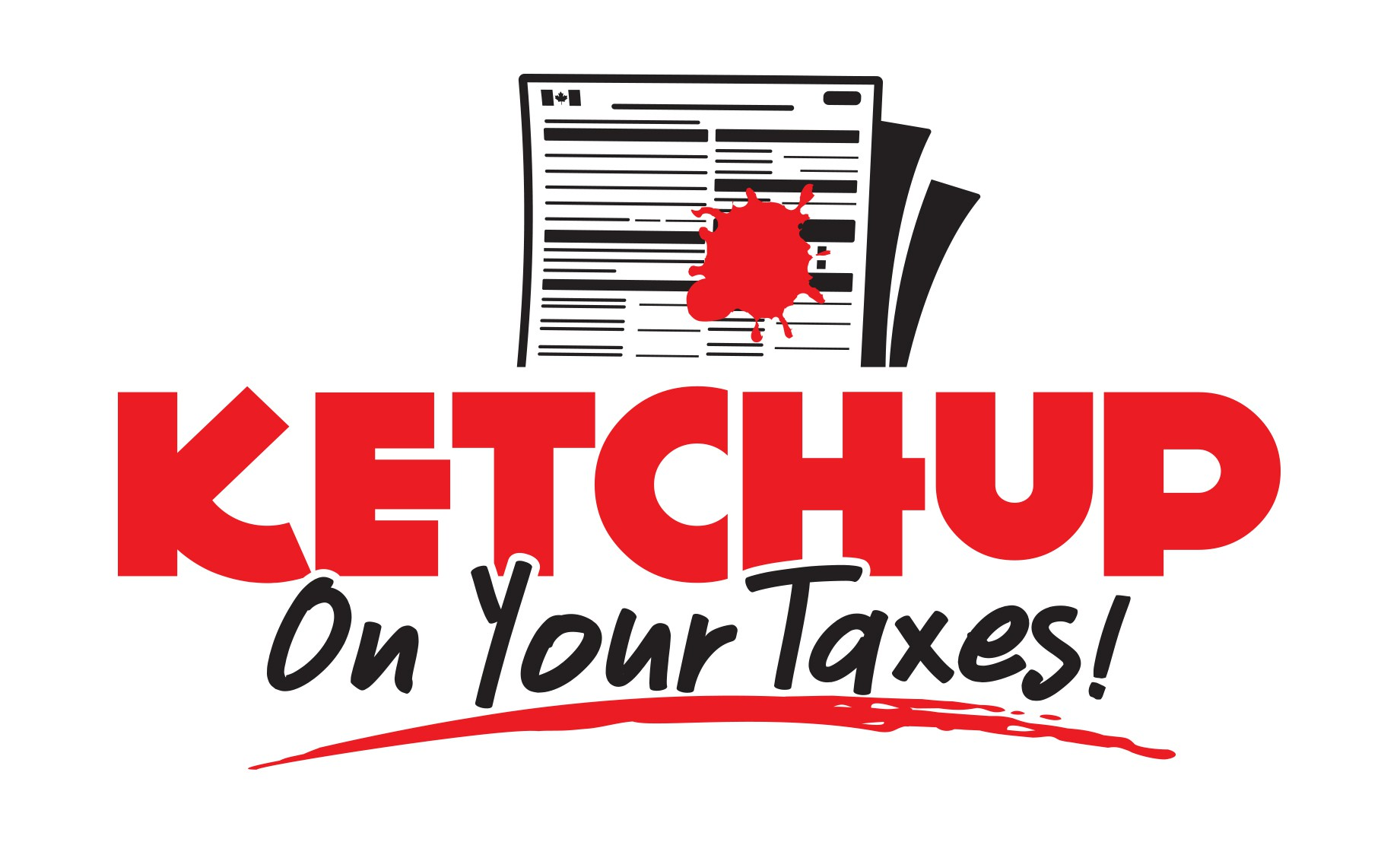A playful, simple logo & graphic for a taxes slogan!