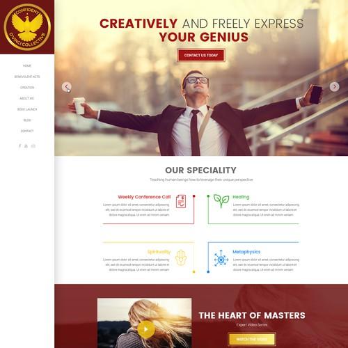 Wordpress Site - metaphysical based coaching and media publishing company