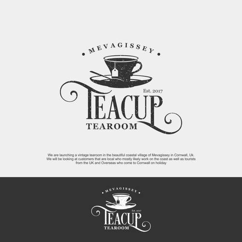 Create a visual identify for our vintage tearoom