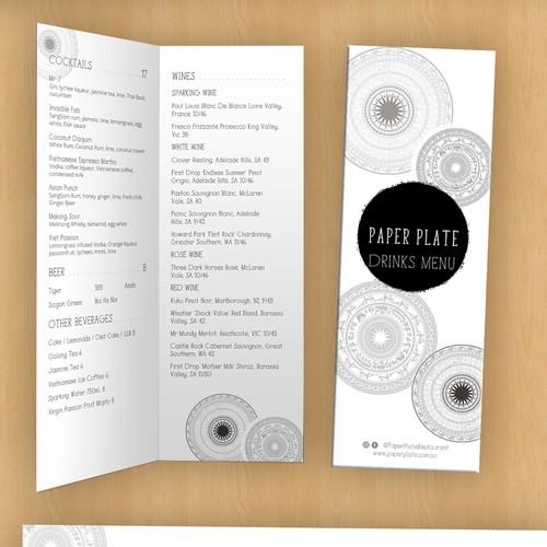 Minimal clean & modern menu