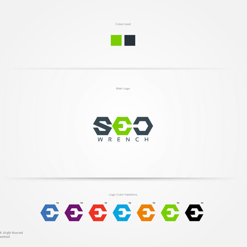 logo and business card for SEO Wrench