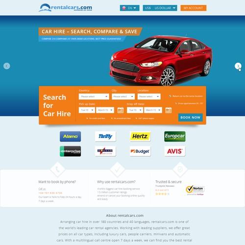Create a high converting car rental landing page